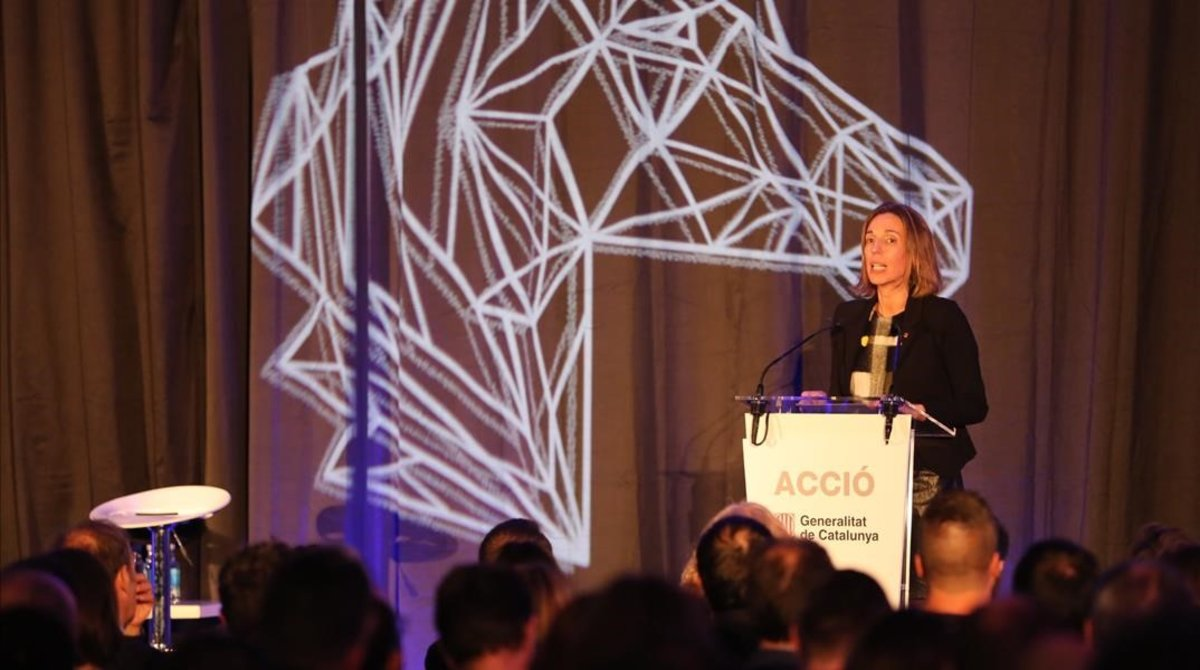 La 'consellera' de Empresa i Coneixement, Àngels Chacón, en el evento 'The Hub Event 2018'.