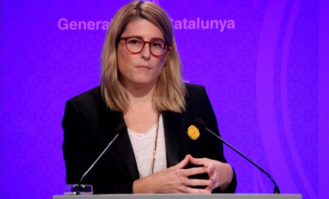 La consellera de Presidència y portavoz del Govern, Elsa Artadi.