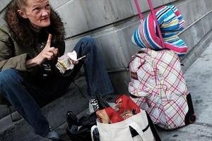 Un consumidor de heroína en el Bronx neoyorquino.