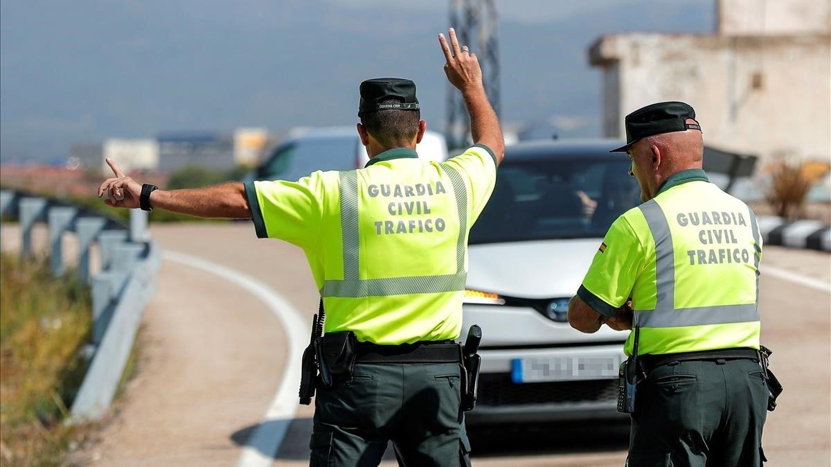 Un control de la Guardia Civil de Tráfico.