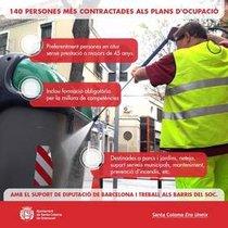 Infografía sobre los nuevos Planes de Empleo en Santa Coloma.