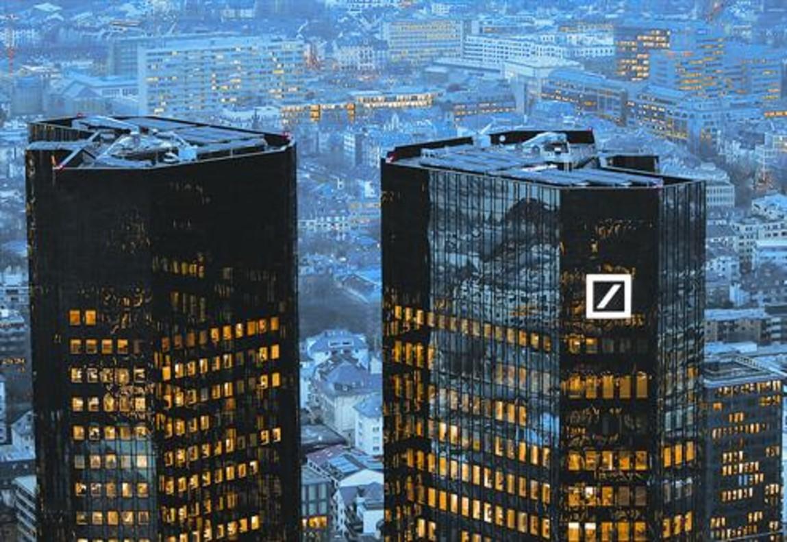 El cuartel general del Deutsche Banken Fráncfort.
