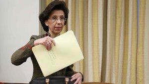 La presidenta del Tribunal de Cuentas, María José de la Fuente, durante una comparecencia en la comisión del Congreso.