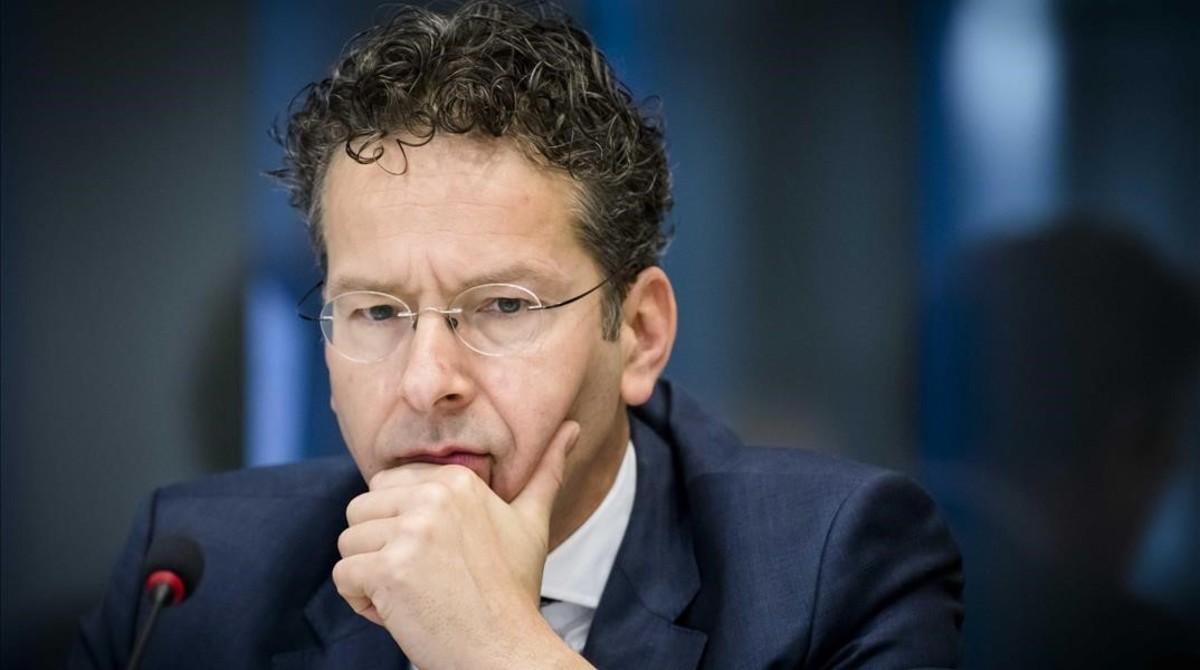 Dijsselbloem, durante una consulta general sobre el Eurogrupo en el Senado holandés, en La Haya, el 30 de marzo.