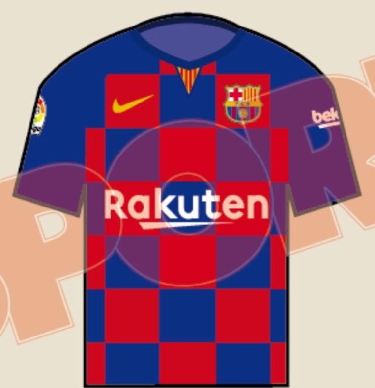 Diseño de la posible camiseta del Barça del la temporada 2019-2020.
