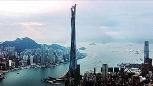 Este es el edificio protagonista, junto a Dwayne Johnson, de 'El rascacielos'.