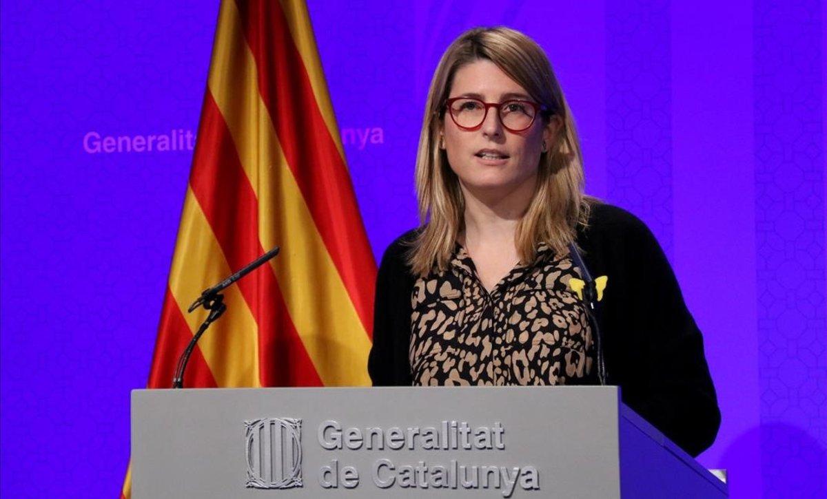Elsa Artadi, durante una rueda de prensa.