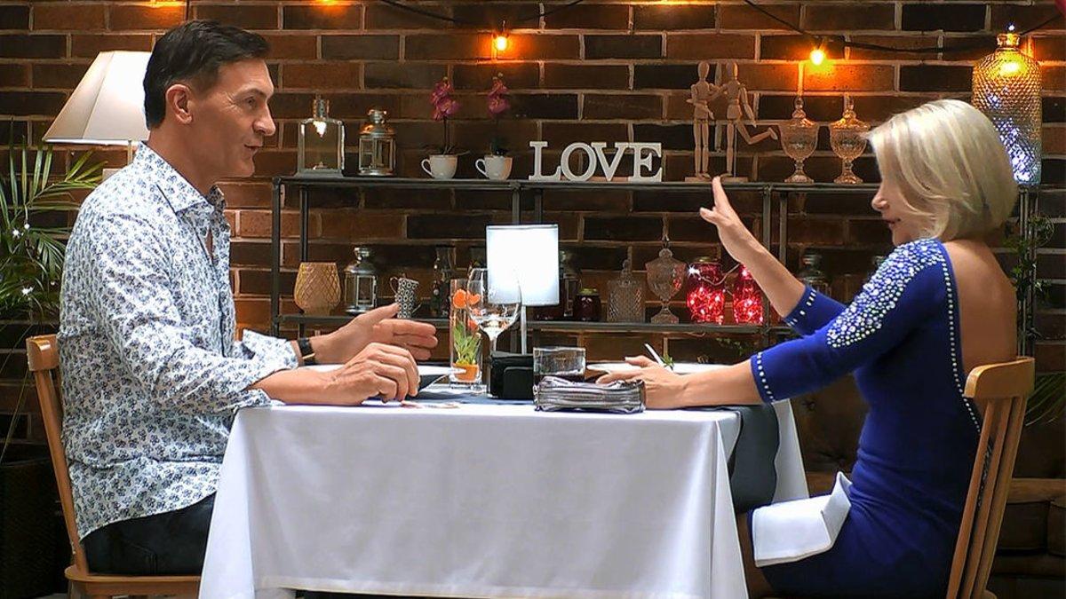 Emmanuel y Pepi en 'First Dates'.