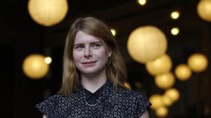 La escritora norteamericana Emma Cline, en su visita a Barcelona.