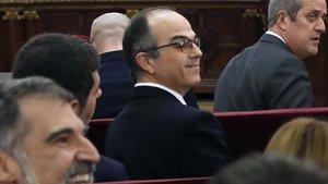 El 'exconseller' Jordi Turull, durante una sesión del juicio en el Supremo.