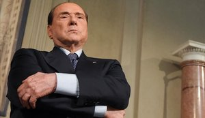 El expresidente italiano, líder del partido conservador, Forza Italia, Silvio Berlusconi.