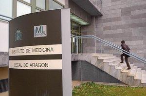Fachada del Instituto de Medicina Legal de Aragón.