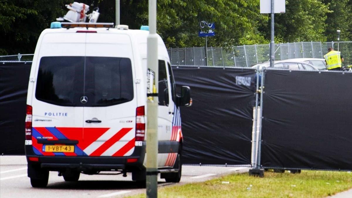 Una furgoneta de la policía holandesa, en una imagen de archivo