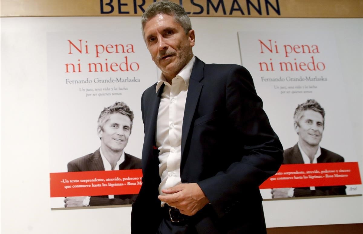 Fernando Grande-Marlaska en septiembre de 2016, durante la presentación de su libro 'Ni pena ni miedo'.