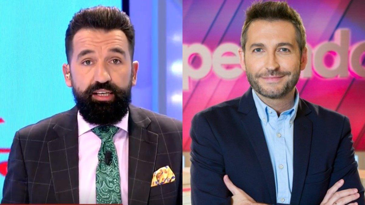 """Frank Blanco manda un mensaje a Miguel Lago en directo en 'TEM': """"¿No está viendo 'Zapeando'?"""""""