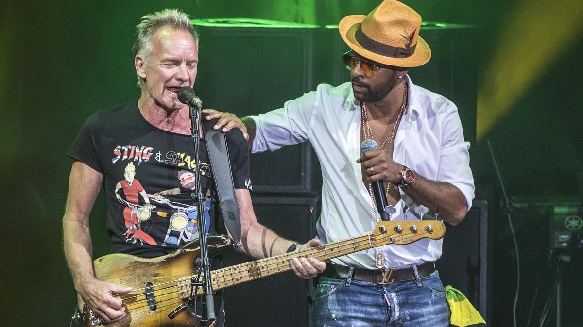 Sting & Shaggy en Cap Roig.
