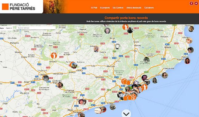 Mapa con recuerdos de infancia de los usuarios.