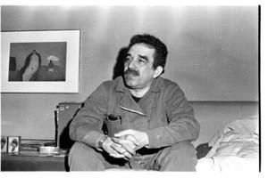 Gabriel García Márquez, en su casa barcelonesa de Sarrià, en 1975.