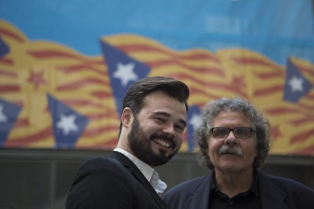 Gabriel Rufián amb Joan Tardà.