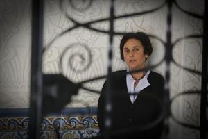 Gabriella (Biella) Coleman, al Palau Moya, on va dictar una conferència aquesta setmana.