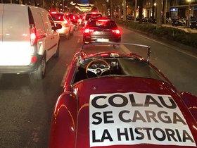 Protesta contra la ZBE para los coches históricos.