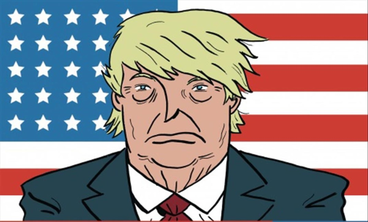 Imagen de la portada de'Presidente Trump. Dios perdone a América', de Pablo Ríos.