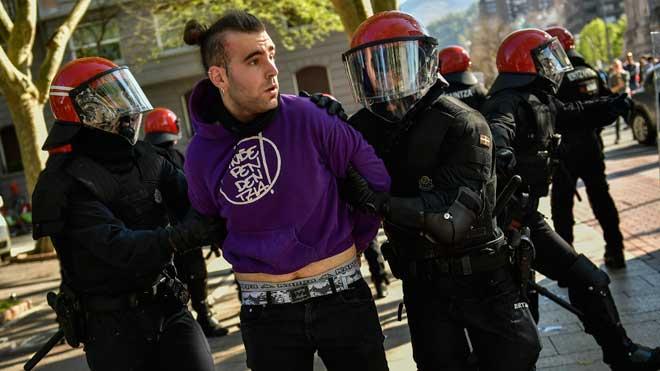 Incidentes en el mitin de Vox en Bilbao.