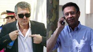Jorge Messi y Bartomeu.
