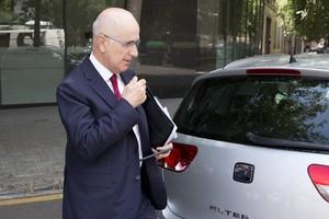 Josep Antoni Duran Lleida, ahir després de la reunió de la direcció dUnió.