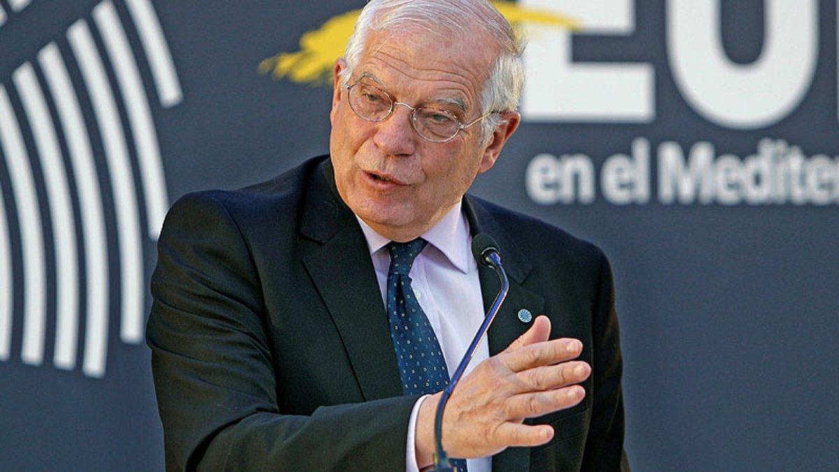 El ministro de Exteriores en funciones, Josep Borrell, en un acto en Alicante.