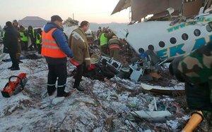Accidente aéreo en Kazajistán.