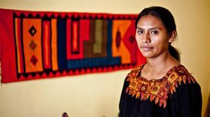 L'activista guatemalenca María Josefa Macz. INTERMÓN OXFAM
