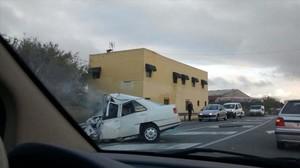 Uno de los últimos accidentesmortales en Catalunya tuvo lugar en la C-66a su paso por La Pera, duranteel puente de la Purísima