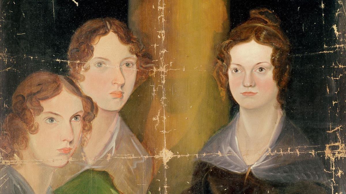 Las hermanas Brontë, pintadas por su hermano Branwell, en 1834.