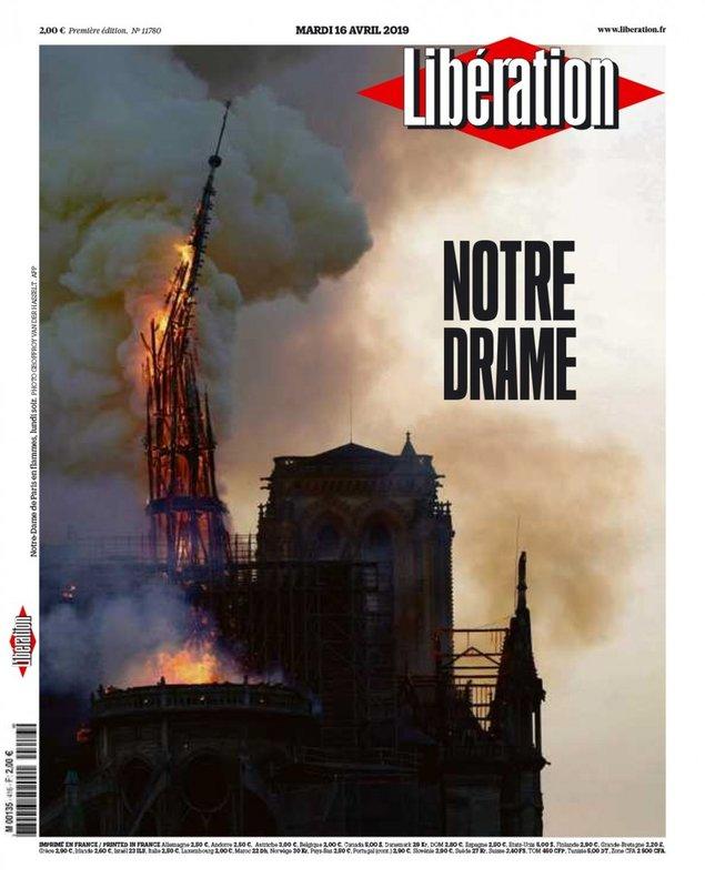 'Notre Drame': les portades de la premsa francesa sobre l'incendi