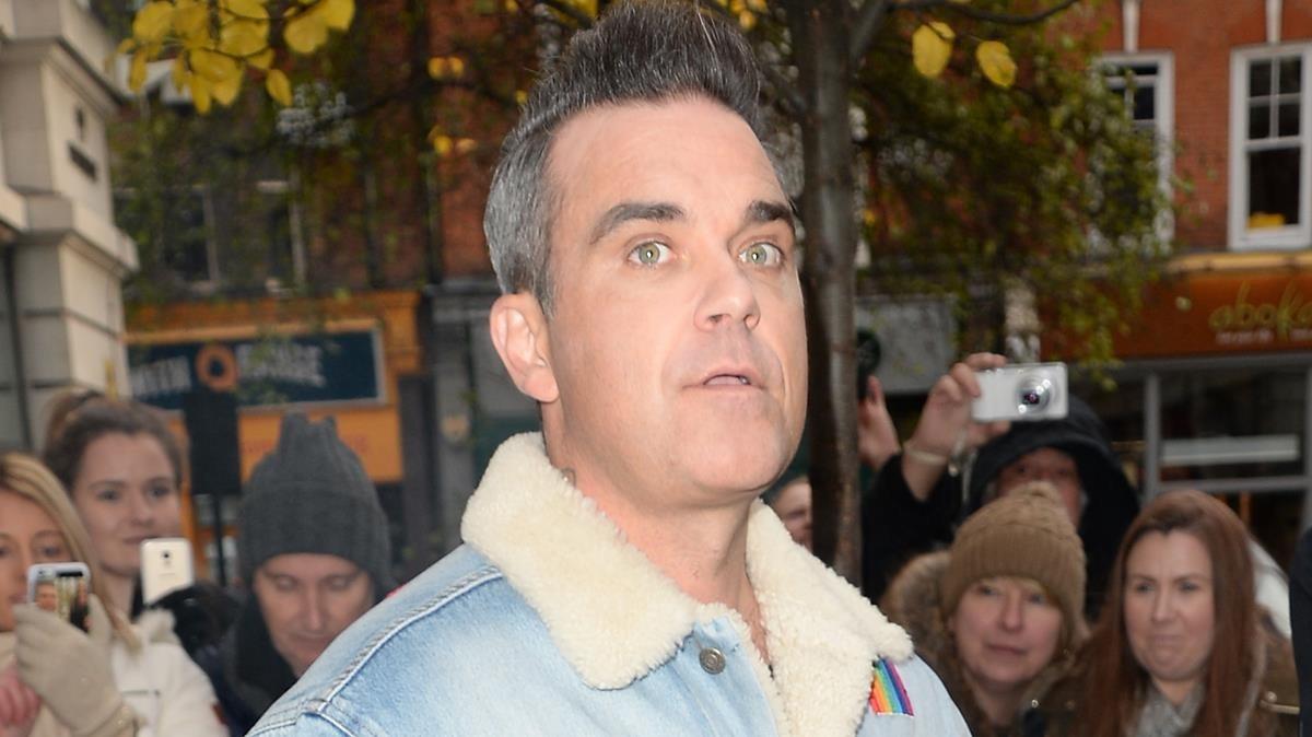 El cantante Robbie Williams.