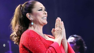 Isabel Pantoja, en un concierto en Las Palmas, el pasado 13 de enero.