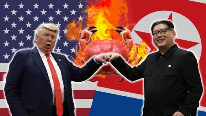 Los dobles de Donald Trump y Kim Jong-un se ponen las botas en Singapur.