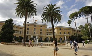 Los jardines del palacio de Pedralbes.