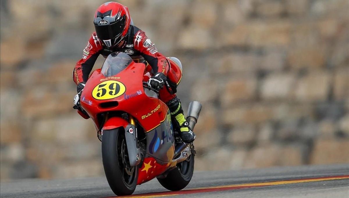 Marc Luna estrenó la nueva Bultaco de Moto2 en Motorland, en el FIM CEV Repsol.