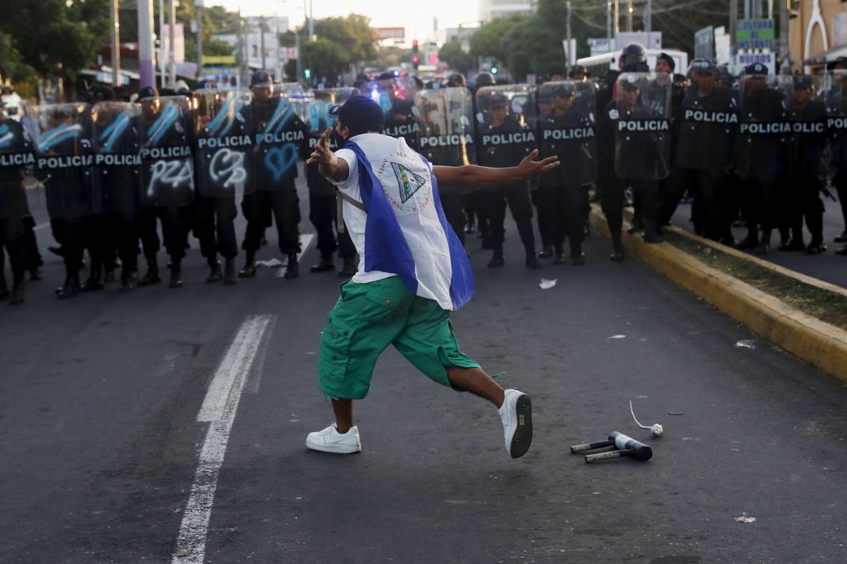 Marcha contra Daniel Ortega en Nicaragua