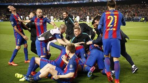 La UEFA multa el Barça amb 19.000 euros per la invasió del camp contra el París SG
