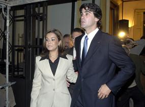 María José Campanario y su marido, Jesulín de Ubrique, en una visita, en el 2003, a la Casa Madrid.