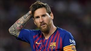 Messi, en el partido ante el Alavés.