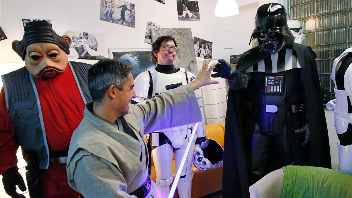 Miembros de la asociación Star Wars Catalunya