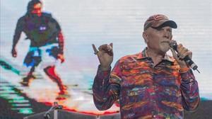 Mike Love, en el concierto de The Beach Boys en Pedralbes.