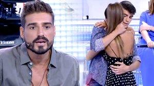 """Violeta y Julen hacen las paces con un abrazo y Fabio reconoce sentirse """"celoso"""""""