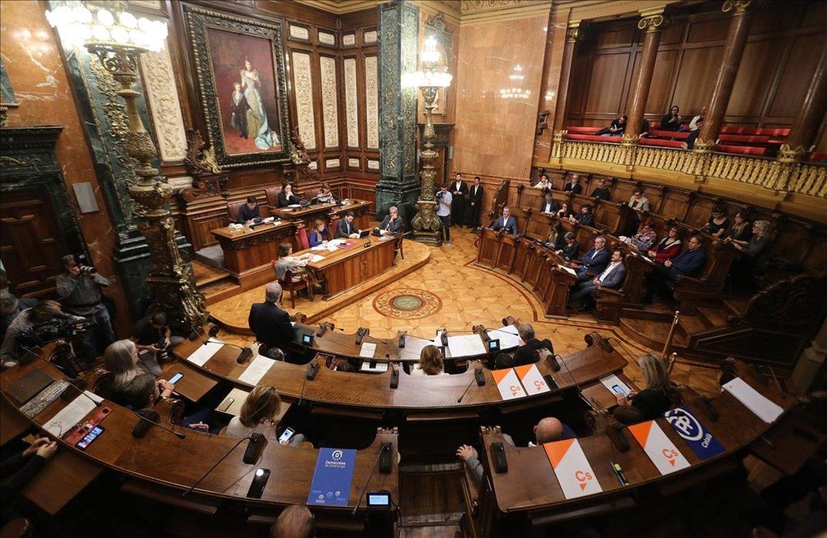 Pleno municiapl del Ayuntamiento de Barcelona