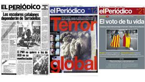 EL PERIÓDICO exposa els seus 40 anys d'història al Palau Robert