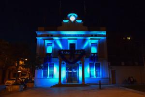 L'Ajuntament de Rubí, il·luminat.